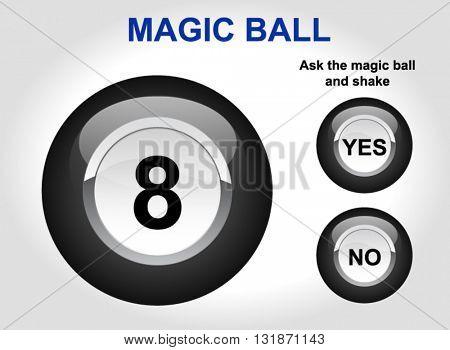 Magic ball. Ball yes / no