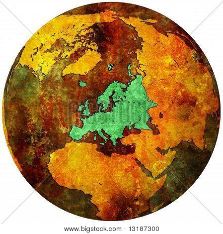 Europe Territory On Globe Map