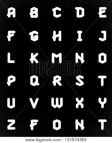 Polygonal geometric font. Creative Alphabet. Typographic Set