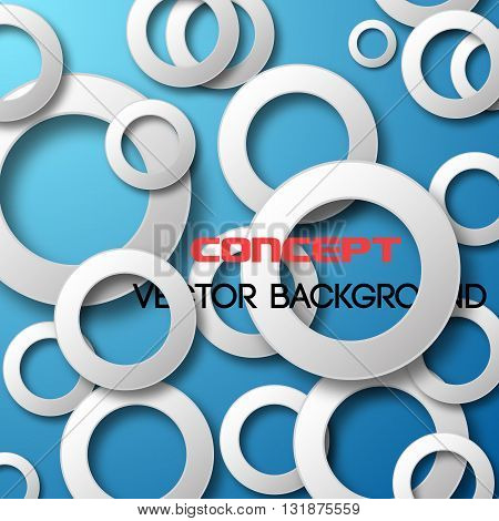 Paper circles background. Abstract 3D Geometrical Design. Vector illustration.