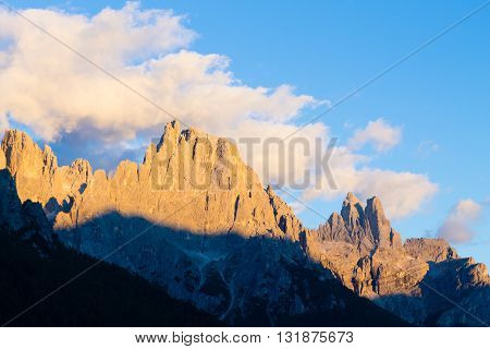 Italian dolomites. Mountain landscape from