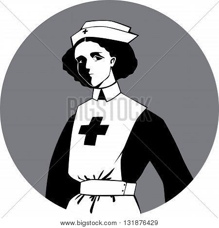 World War One Nurse Clip-art, EPS8 vector illustration