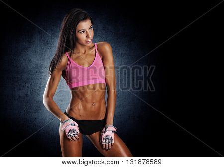 Attractive Fitness Woman, Trained Female Body