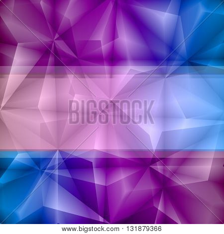 Violet-Blue Abstract Background. EPS-10. Transparency was Used.