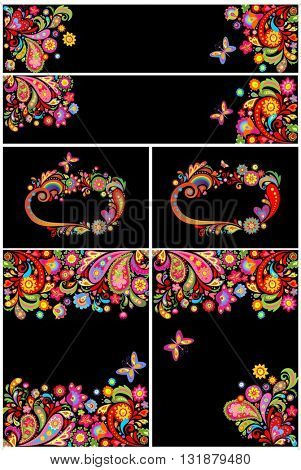 Summery decorative backgrounds