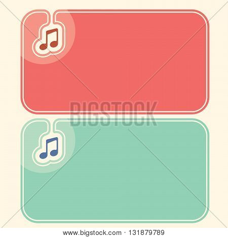 Color business cards with the symbol of music