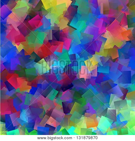 Abstract coloring horizon gradients background with cubism effects