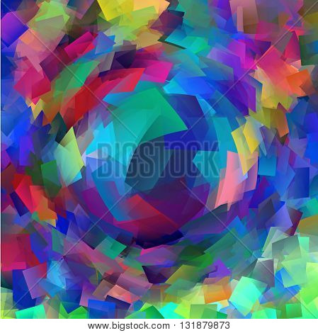 Abstract coloring  gradients background with visual cubism and pinch effects