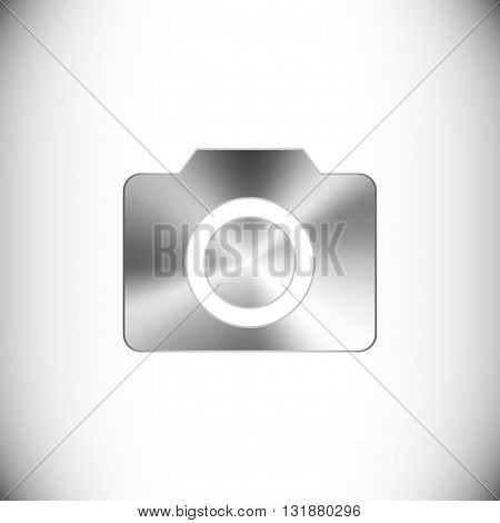 The steel icon representing camera button for web or mobile devices.