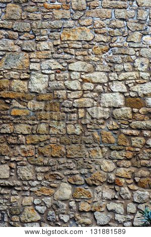 Stone wall texture. Architectural textured background.