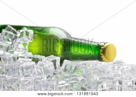 Cold Green Bottle Of Beer