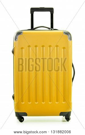 Large Polycarboante Suitcase Isolated On White