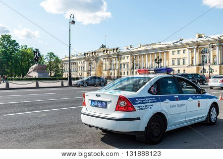 Police Car In St. Petersburg