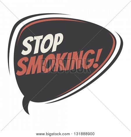 stop smoking retro speech bubble