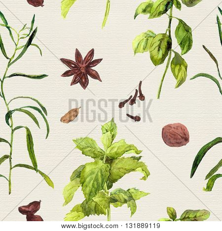 Species and herbs for cooking: nutmeg, cloves, anise, cinnamon and others.