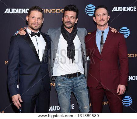 LOS ANGELES - MAY 25:  Matt Lauria, Frank Grillo & Jonathan Tucker arrives to the