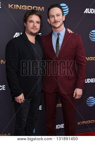LOS ANGELES - MAY 25:  Byron Balasco & Jonathan Tucker arrives to the