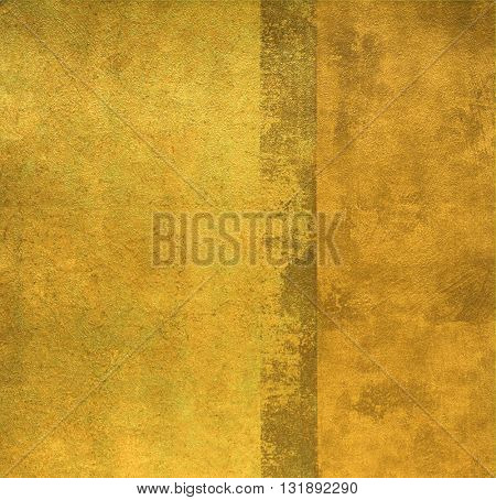 SQUARE, WEATHERED, GOLD , ROUGH PAINTED WALL , ABSTRACT BACKGROUND