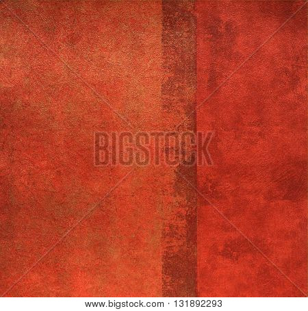 SQUARE, WEATHERED, RED , ROUGH PAINTED WALL , ABSTRACT BACKGROUND