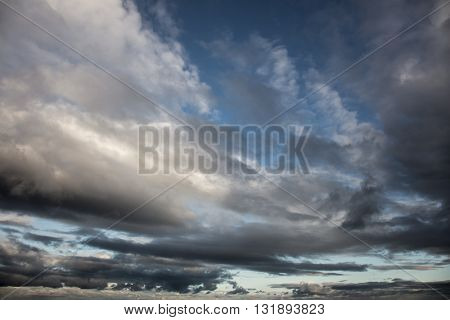 Dramatic Sky - Background of storm clouds before a thunder-storm