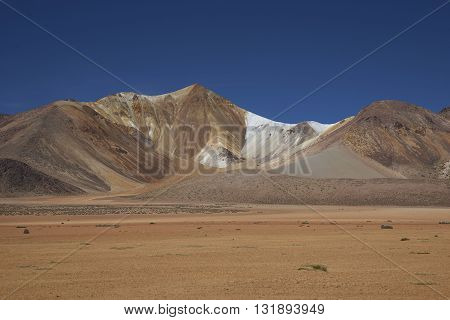 Colourful mountains at Suriplaza on the Altiplano of north east Chile.