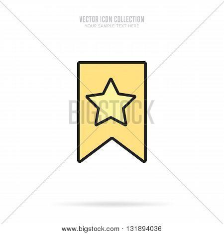 Award icon vector isolated on white background. Flat design style.