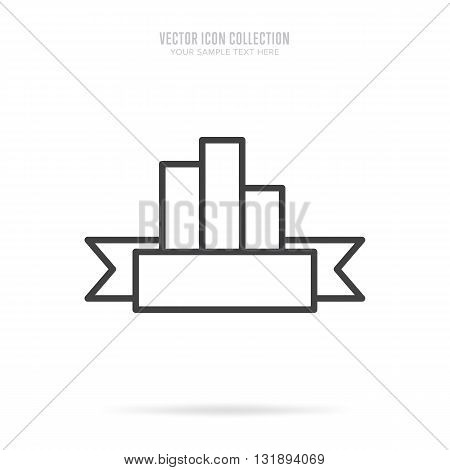 Award icon vector isolated on white background. Linear style.
