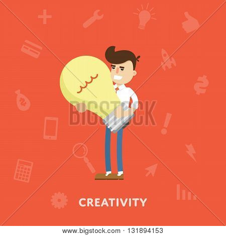 Creative ideas business concept flat abstract isolated vector illustration