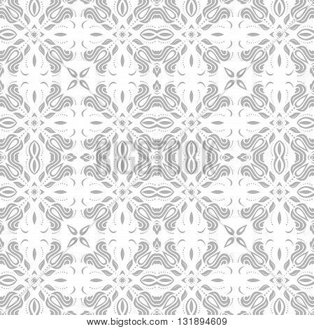 Oriental classic light gray pattern. Seamless abstract background