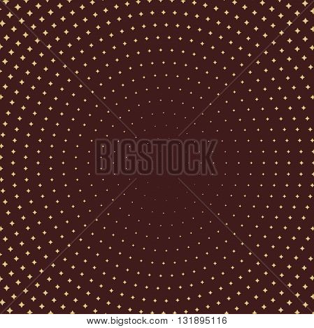 Geometric modern pattern. Fine brown ornament with golden elements