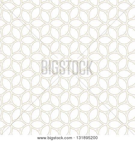 Seamless golden ornament. Modern light geometric pattern