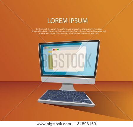 Computer image vector illustration.