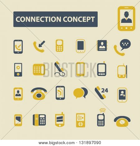 connection concept icons