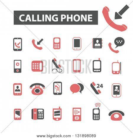 calling phone icons