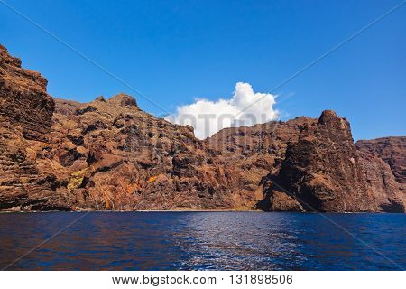 Los Gigantes rock at Tenerife island - Canary Spain