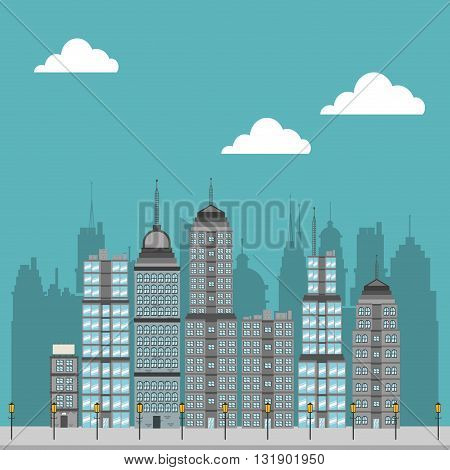 City concept with icon design, vector illustration 10 eps graphic.