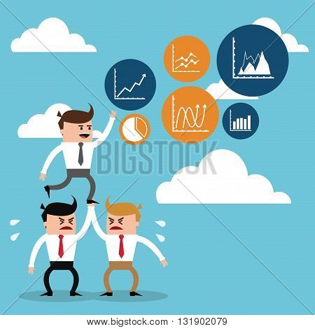 Business concept with icon set design, vector illustration 10 eps graphic.