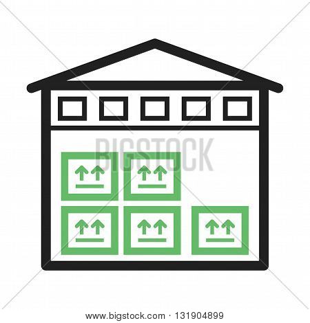 Building, storage, warehouse icon vector image. Can also be used for logistics. Suitable for mobile apps, web apps and print media.
