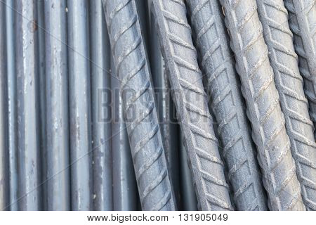 Steel rods texture background for use construction