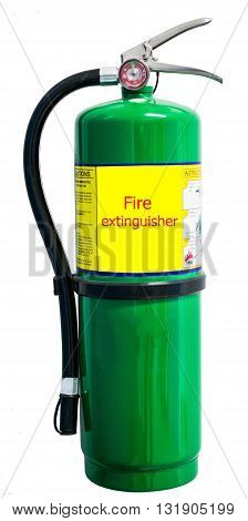 Fire extinguisher isolate on white.extinguisher, is an active fire protection device used to extinguish or control small fires.