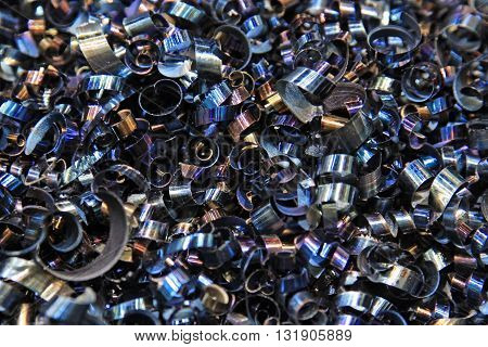 Steel shavings. Background for the designer's creativity
