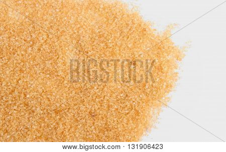 Granulated natural brown cane sugar healthy food