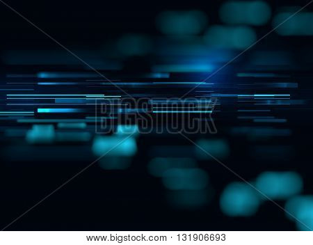 blue geometric abstract technology and science background
