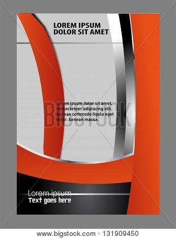 elegant business brochure flyer design vector template