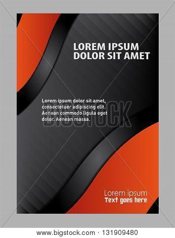 booklet design template. Flyer booklet template design catalog brochure folder