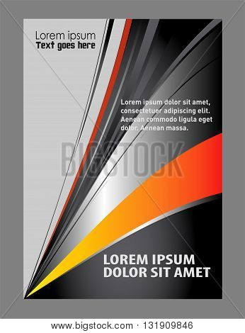 vector business brochure, flyer vector template abstract