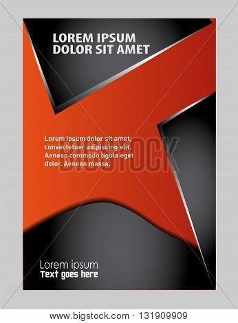 Abstract flyer background. Clip-art design template abstract