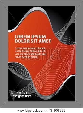 flyer design. Abstract background with wave - brochure design or flyer