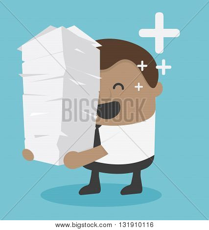 work load concept illustration vector eps .10