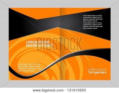 Vector Abstract template brochure design. Vector brochure template design